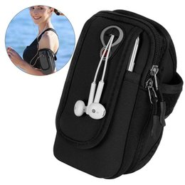 Running band cell phone online shopping - 1pc Waterproof Arm Bag Cell Phone Arm Band Phone Holder Workout Sports Pocket For Hiking Walking Running