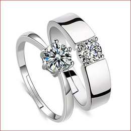 Fashion Jewelry Engagement Rings NZ - luxury designer jewelry women rings Crystal Ring Fashion Silver colors wedding engagement rings finger ring designer jewelry drop ship