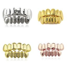 Ingrosso Parentesi graffe per denti hip-hop placcati in oro colore denti uomo donna superficie lucida articoli di stomatologia nuovo arrivo 9 6lr L1