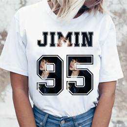 $enCountryForm.capitalKeyWord NZ - Kpop Jimin t shirt t-shirt ulzzang clothing top tshirt harajuku for korean tees funny graphic women female
