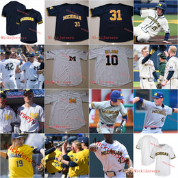 Thomas gold online shopping - Mens Custom Michigan Wolverines Baseball Jersey Blake Nelson Jeff Criswell Tommy Henry Joe Donovan AKO THOMAS Jorda Nwogu Michigan Jersey