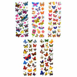Wholesale Reward Stickers UK - 100 Sheets Scrapbooking Cute Kawaii Butterflies Emoji Teacher Reward Kids Children Toys Bubble Puffy Stickers Factory Direct Sales