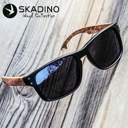 9fe3e2f0b8ae8 Wood Men Sunglasses Polarized UV400 SKADINO Beech Wooden Sun Glasses for  Women Blue Green Lens Handmade Fashion Brand Cool