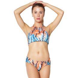 Multi piece swiMwear online shopping - DROZENO Swimwear Women Bikini swimsuit women bathing suit Plus Size Piece Set Print Swimwear