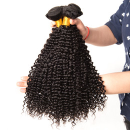 best curly hair weave 2019 - Best Quality Brazilian Hair Unprocessed Malaysian Brazilian Indian Peruvian Jerry Curly Hair Extension 4 Pieces Human Vi