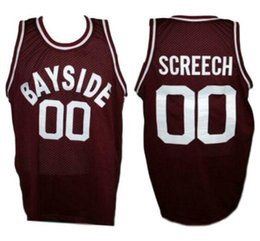 966cb6d4e21 Saved By The Bell Screech  00 Bayside Tigers Retro Basketball Jersey Men s  Stitched Custom Any Number Name Jerseys