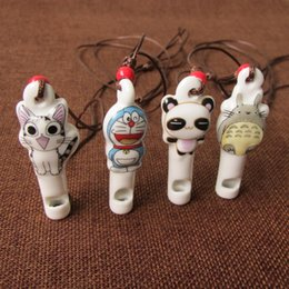 Chinese Porcelain Pendants Australia - New Products Chinese Style Ceramics Ornaments Lovely Children Cartoon Modelling Personality Simplicity Whistling Pendant Necklace Trinket
