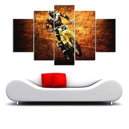 $enCountryForm.capitalKeyWord Australia - Motocross Jumps Group,5 Pieces The Latest Most Popular High-definition Canvas Printed Home Decorative Art  Unframed   Framed