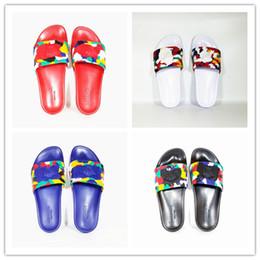 $enCountryForm.capitalKeyWord Australia - 2019 Designer slipper Gear bottoms mens striped sandals causal Non-slip summer huaraches slippers flip flopsVersace slipper US 7-12