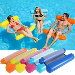 Large Inflatable Pools Australia - New Summer Swimming Pools Inflatable Floating Water Hammock Lounge Bed Chair Summer Inflatable Pool Float Floating Bed
