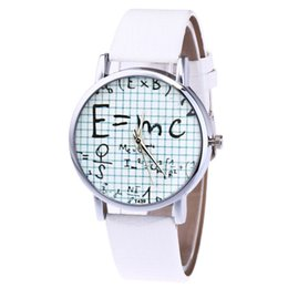 0c0c648dc0a Ladies Quartz Watch Women s Leather Strap Korean Lady Student Couple Watch  Math formula Casual Watches Clock reloj mujer A40