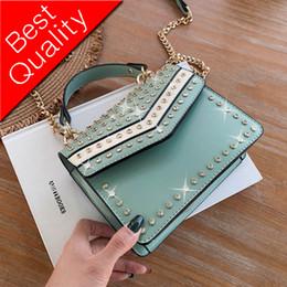 Blue Acrylic Diamond Australia - Elegant Female Tote bag 2019 Fashion New High Quality PU Leather Women's Designer Handbag Diamond Chain Shoulder Messenger bags