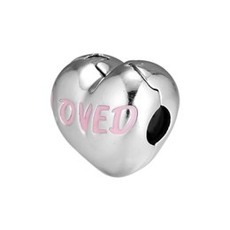 $enCountryForm.capitalKeyWord Australia - Fit Original Pandora Charms Bracelet Real 925 Sterling Silver Letter Love Heart Clip Stopper Bead Berloque DIY Jewelry WomenGift