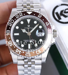 diving watch gmt 2019 - Mens Black Green KS Factory Watch Men Automatic Eta 2836 Gmt Batman Pepsi 126710 Watches Steel Jubilee Bracelet 126719 D