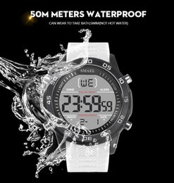$enCountryForm.capitalKeyWord Australia - Smael Fashion Sports Brand Men Watch Multifunction Digital Dial Resin Strap Waterproof Outdoor Sports Mens Clock Wrist Watches