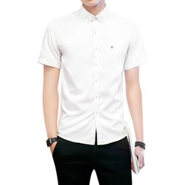 Men Cool Shirts Style Australia - Fashion men short sleeves solid shirts high quality casual style men comfortable cool summer shirts