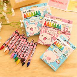 $enCountryForm.capitalKeyWord Australia - 8 12  24 pcs set Cute Rabbit Crayons For Painting Drawing Kid Gift Pastel Wax Crayon Papelaria Stationery Supplies Free shipping
