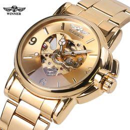 $enCountryForm.capitalKeyWord Australia - Winner Woman Watch Female Mechanical Skeleton Wristwatch 2016 Fashion Stainless Steel Casual Stylish Lady Gift Fress Shipping Y19062402