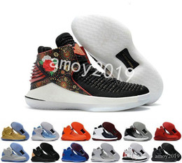 chinese shoe sizes NZ - New 32 Chinese New Year Men Basketball Shoes High Quality Xxxii 32s Hornets Mens Trainers Sports Sneakers Size 40-46