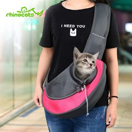 Pet Carrying Bags Australia - Carrier For Cat Pet Dog Sling Backpack Bag Breathable Travel Transport Carrying Bag For Kitten Puppy Small Cats Animals Handbags Y19061901