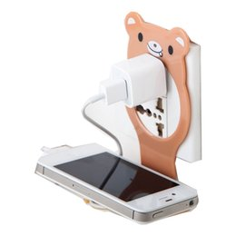 Discount foldable phone holder stand - Animal Foldable Hook Movable Mobile Phone Wall Charger Phone Stand Holder Base Support Charging Rack Shelf Key Hanger St
