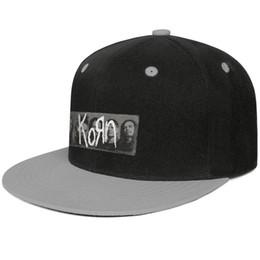 f9b9802d Korn-Band-Logo Design Hip-Hop Caps Snapback Flat Brim Trucker Hats Sports  Adjustable