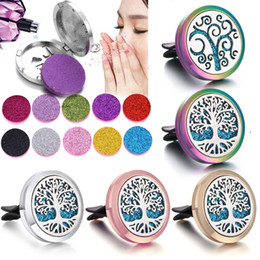 car life 2019 - Aromatherapy Jewelry Car Air Freshener Tree of Life Paw Magnetic Essential Oil Diffuser Vent Clip Aromatherapy Perfume L