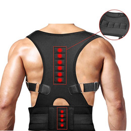 Magnet Support Australia - 1PCS Men Women's Correct Belt Power Magnets Posture Sport Back Support chirdren Strap Postural Correction Belt Chiropractic Vest #680301