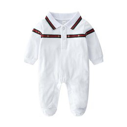 kids cartoon shorts UK - 0-24M Cartoon Baby Romper Spirng Autumn Long Sleeve Baby Boy Girl Romper Infant Warm Jumpsuit Kids Cotton baby Clothes AAAA31