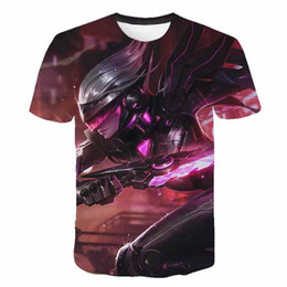 ingrosso league of legends magliette-Nuovi giochi estate calda League of Legends t shirt da uomo donna superiore T96 D pelle eroe maglietta stampata casuale strada
