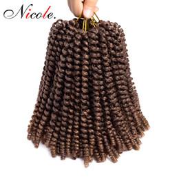 $enCountryForm.capitalKeyWord Australia - Nicole Hair 8 inch Crochet Braids Ombre Spring Twist Hair Kanekalon Synthetic Hair Extensions Braids Kinky Curly Twists Extensions