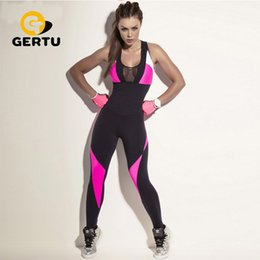 $enCountryForm.capitalKeyWord Australia - 2018 Fashion Mesh Sporting Bodysuit Women Fitness Stretch Sexy Jumpsuits Backless Candy Pink Black Patchwork Hollow Out Playsuit Y19060501