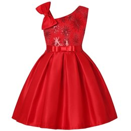 Children Straight Gown Styles UK - new style baby girl sequin dress kids frock dress baby girl birthday easter party dress child skirt clothes