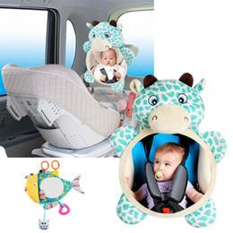 Baby Car Seat Toys Australia - Kidlove Baby Car Seat Stuffed Plush Toy Animal Deer Fish Mirror Rearview Baby Rattles Toddler Infant Stroller Hanging
