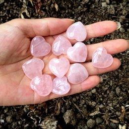 $enCountryForm.capitalKeyWord Australia - Natural Rose Quartz Heart Shaped Pink Crystal Carved Palm Love Healing Gemstone Lover Gife Stone Crystal Heart Gems