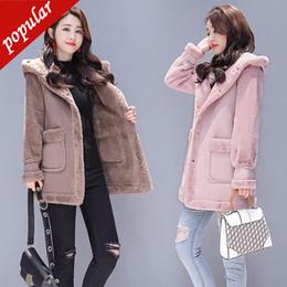 $enCountryForm.capitalKeyWord NZ - Lambs Wool Coat Female Winter New Women's Hooded Medium Long Coat Women Jacket Faux Suede Leather Outerwear
