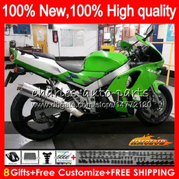 kawasaki zx6r 95 96 97 UK - Body For KAWASAKI ZX 636 600CC ZX-636 green black ZX6R 94 95 96 97 50HC.84 ZX636 ZX-6R ZX600 ZX 6 R 6R 1994 1995 1996 1997 Full Fairing kit