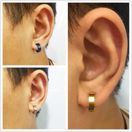 $enCountryForm.capitalKeyWord Australia - Trend stainless steel ear nail ear buckle vacuum electroplating color retaining ear nail earrings for men
