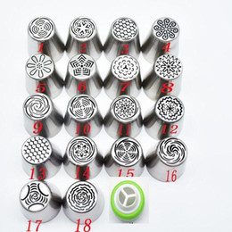 $enCountryForm.capitalKeyWord Australia - 19pcs set Pastry Nozzles And Coupler Icing Piping Tips Sets Stainless Steel Rose Cream Bakeware Cupcake Cake Decorating tools