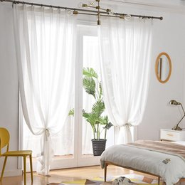 simple bedroom decorations Australia - Balcony yarn shaded curtain finished simple modern curtain + gauze bedroom partition decoration white sand window screen anti-mosquito