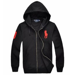 Big Hooded Hoodie Sweatshirt UK - new Hot sale Men's Jackets Big Horse polo Hoodies and Sweatshirts autumn winter casual with a hood sport jacket men's hoodies Men's Jackets