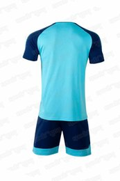Wholesale train games resale online - 65565 Football suit mens training suit short sleeved adult game uniform football shirt mens jerseys quick dry jerseys