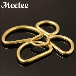 Snap Hooks D Rings Australia - Solid Brass Hook D Ring Bag Metal Buckle D Rings Dog Collar Keychain Saddle Harness Belt Snap Hooks DIY Leather Craft