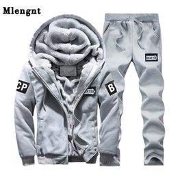 $enCountryForm.capitalKeyWord Australia - Male Fashion Hoodie Sweatshirt Set For Winter Autumn Warm Casual Outerwear Windbreaker Classic Jacket Men Coat 3 Colors Fleece