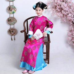 cf756bcad Ancient chinese costumes women online shopping - Embroidery Girl Qing  Dynasty Princess Folk Elegant Costume Ancient