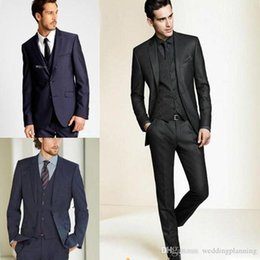 $enCountryForm.capitalKeyWord Australia - Wholesale - ew Formal Tuxedos Suits Men Wedding Suit Slim Fit Business Groom Suit Set S-4 XL Dress Suits Tuxedo For Men (Jacket+Pants)