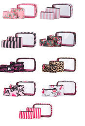 Tragbare PVC-Kosmetik-Tasche-Kits in 3 stücke im freien wasserdichte stilvolle make-up-taschen set reisegröße fabrik direkt lieferung schmuck lagerung beutel sätze frei dhl schiff im Angebot