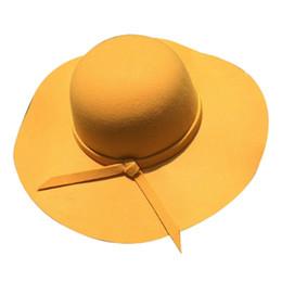 $enCountryForm.capitalKeyWord UK - wholesale Brand 2018 New Summer Women's Hats Bow Patchwork Casual Round Flat Top Beach Hat Woolen Sun Hats Fashion