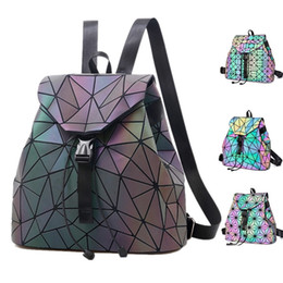 $enCountryForm.capitalKeyWord UK - Bao Women Laser Luminous Backpack Luminous Drawstring Female Daily Backpack Geometry Backpacks Folding School Bags For Teenage Mochila