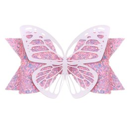 Wholesale New Princess hairpin ins Liu Hai hairpin Pu butterfly sequins bow children s side clip